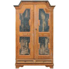 Early 19th Century, Swedish Painted Armoire
