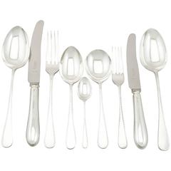 1960s Sterling Silver Canteen of Cutlery for Six Persons