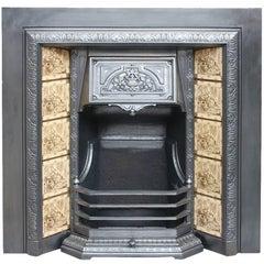 Restored 19th Century Cast Iron Fireplace Grate