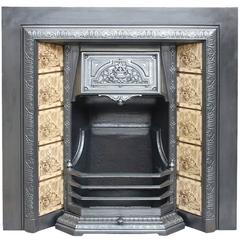 Restored 19th Century Cast Iron Fireplace Grate