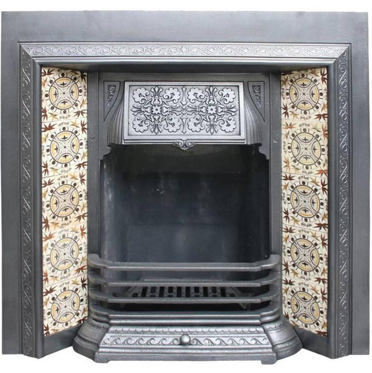 Reclaimed Victorian Cast Iron Fireplace Insert