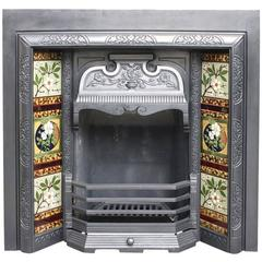 Reclaimed Late Victorian Cast Iron Fireplace Insert
