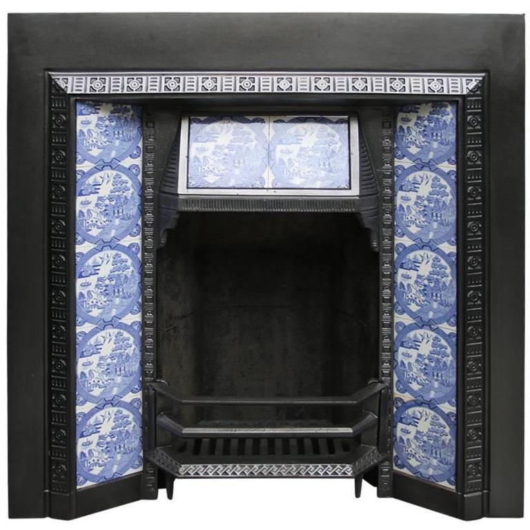 Antique Victorian Cast Iron Fireplace Insert For Sale At 1stdibs