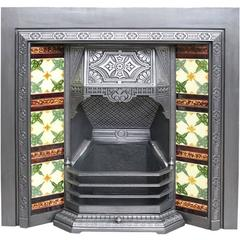 Reclaimed Aesthetic Victorian Tiled Grate
