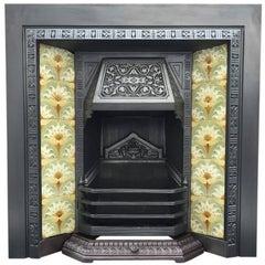 Late 19th Century Victorian Cast Iron Fireplace Insert