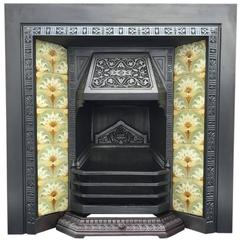 Late 19th Century Victorian Cast Iron Fireplace Insert
