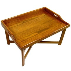 Solid Oak Tray Top Table