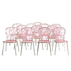 Campana Brothers Pink Zig Zag Chairs, Set of 12