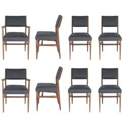 Set of Eight Maze Walnut Dining Chairs