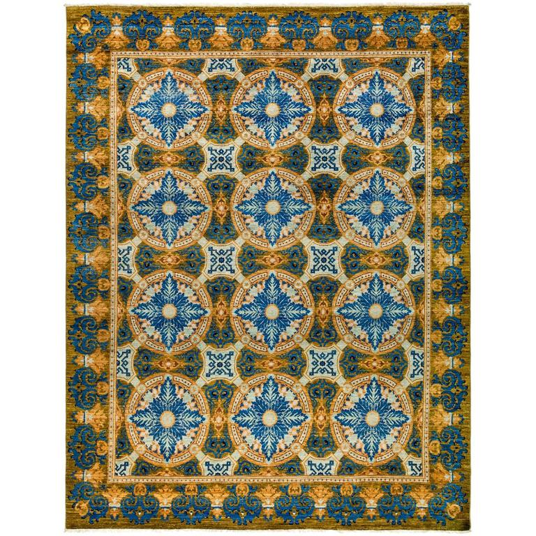 blue suzani area rug solo rugs for sale at 1stdibs. Black Bedroom Furniture Sets. Home Design Ideas