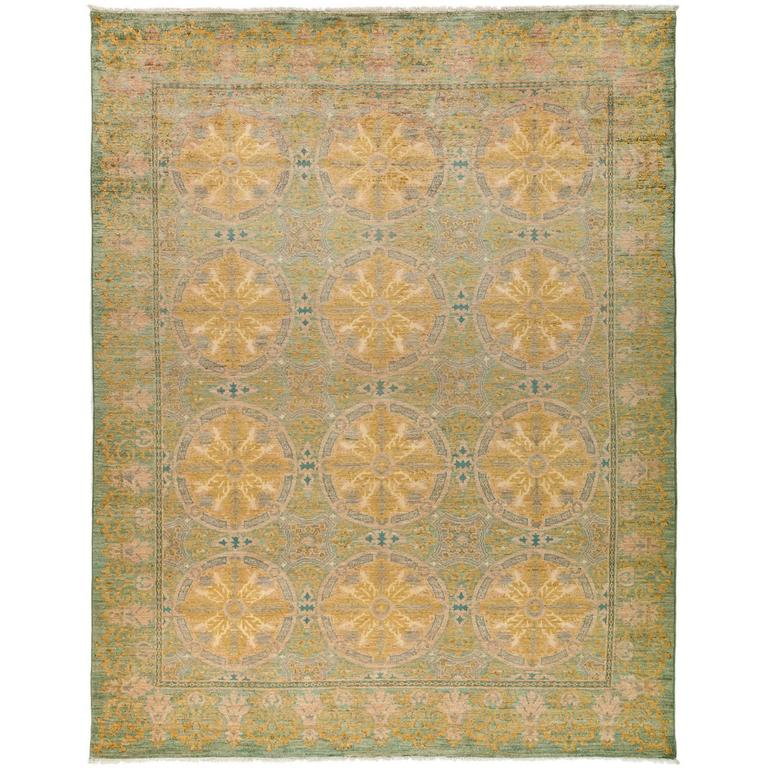 yellow suzani area rug solo rugs for sale at 1stdibs. Black Bedroom Furniture Sets. Home Design Ideas