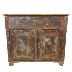 French Pine Painted Dresser with Pink Interior
