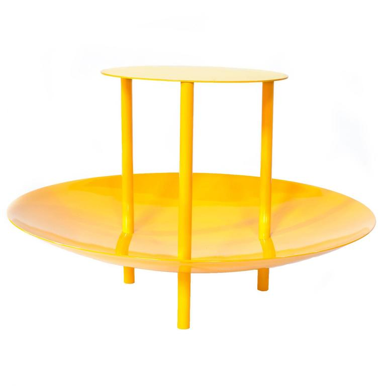 Powder-Coated Magazine Table and Catchall