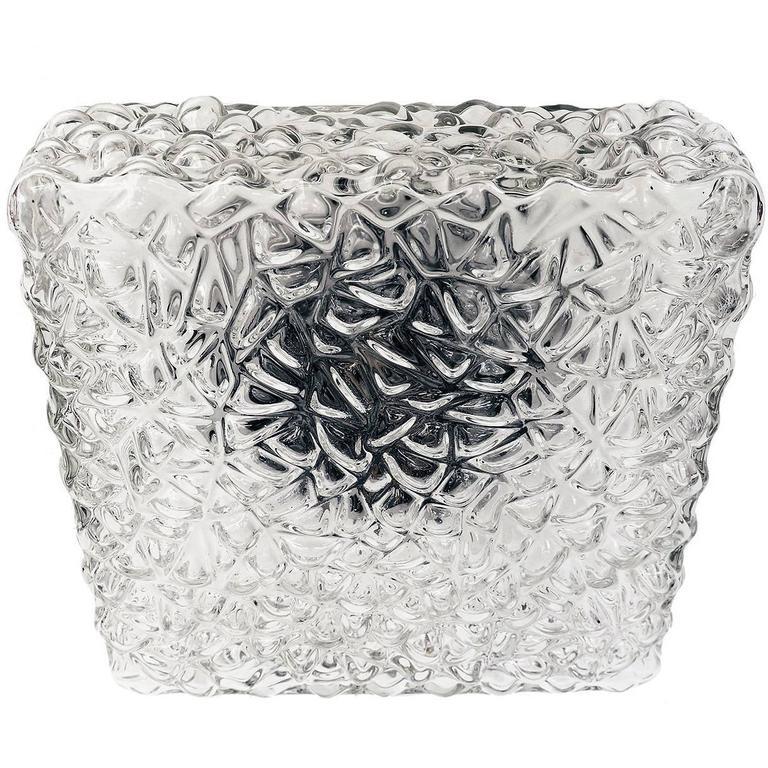 Modernist Pebble Glass Flush Mount Fixture by Rupert Nikoll, Austria For Sale