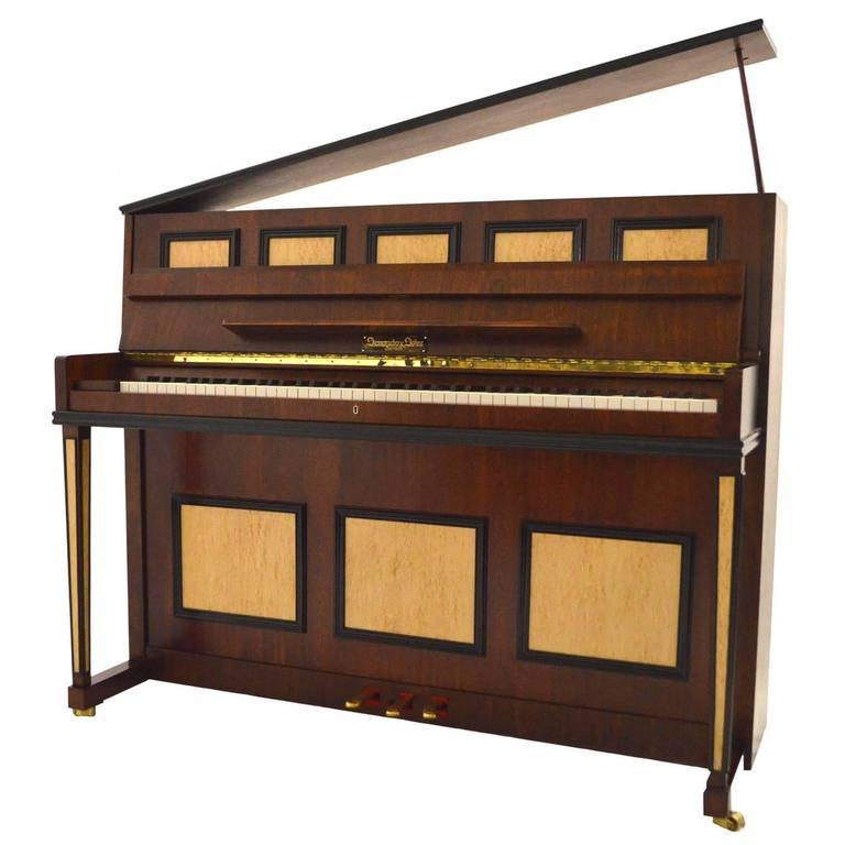 Steingraeber & Sohne 118 Upright Piano in Mahogany with Bird's-Eye Maple Inlay