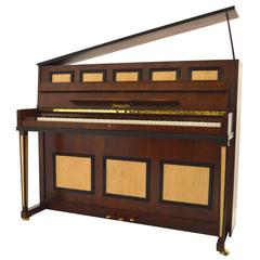 Steingraeber & Sohne 118 Upright Piano in Mahogany with Bird's-Eye Maple Inlay