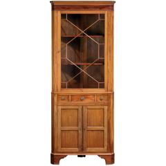 Late 19th Century Mahogany Two Section, Double Corner Cupboard