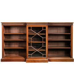 Late 19th Century Mahogany Low Breakfront Bookcase