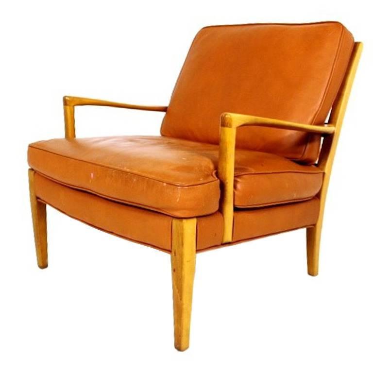 "Rare Scandinavian Lounge Chair Model ""Löven"" Designed by Arne Norell"