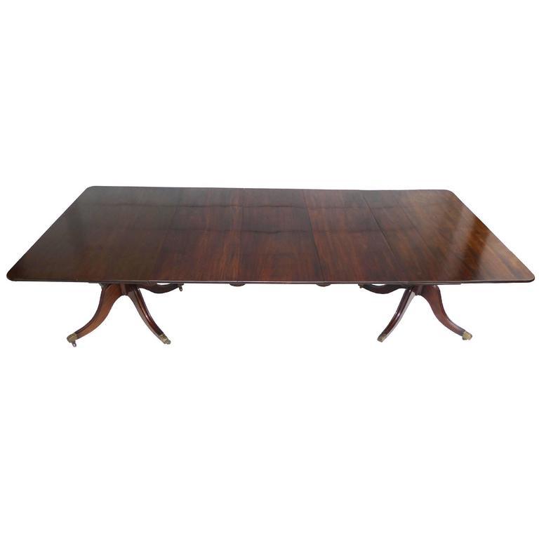 19th Century Regency Period Mahogany Pedestal Dining Table