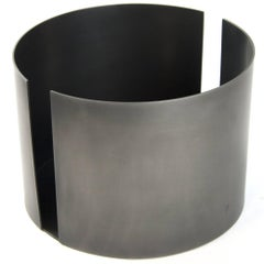 Contemporary Decorative Dark St. Steel Tall Bowl Vessel Centerpiece, In Stock