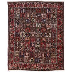 Antique Persian Bakhtiari Rug with Four Season Garden Design