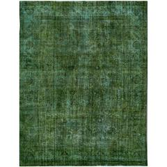 Simply Beautiful Vintage Overdyed Rug