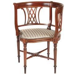 Edwardian Mahogany Inlaid Corner Chair