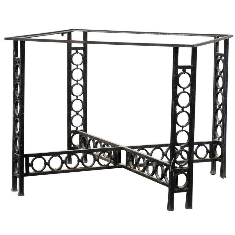 Late 19th Century Iron Centre Table, Circular Motif