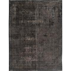 Simply Beautiful Vintage Distressed Overdyed Rug