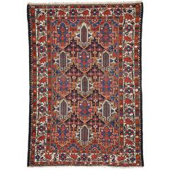 Antique Bakhtiari Rug with Traditional Modern Style