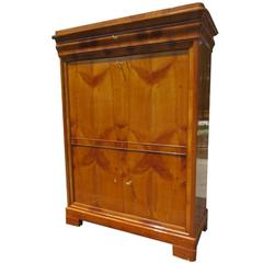 Cherrywood Biedermeier Secretaire