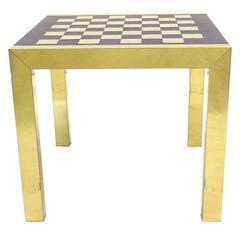 Paul Evans Modern Chess Set Game Table
