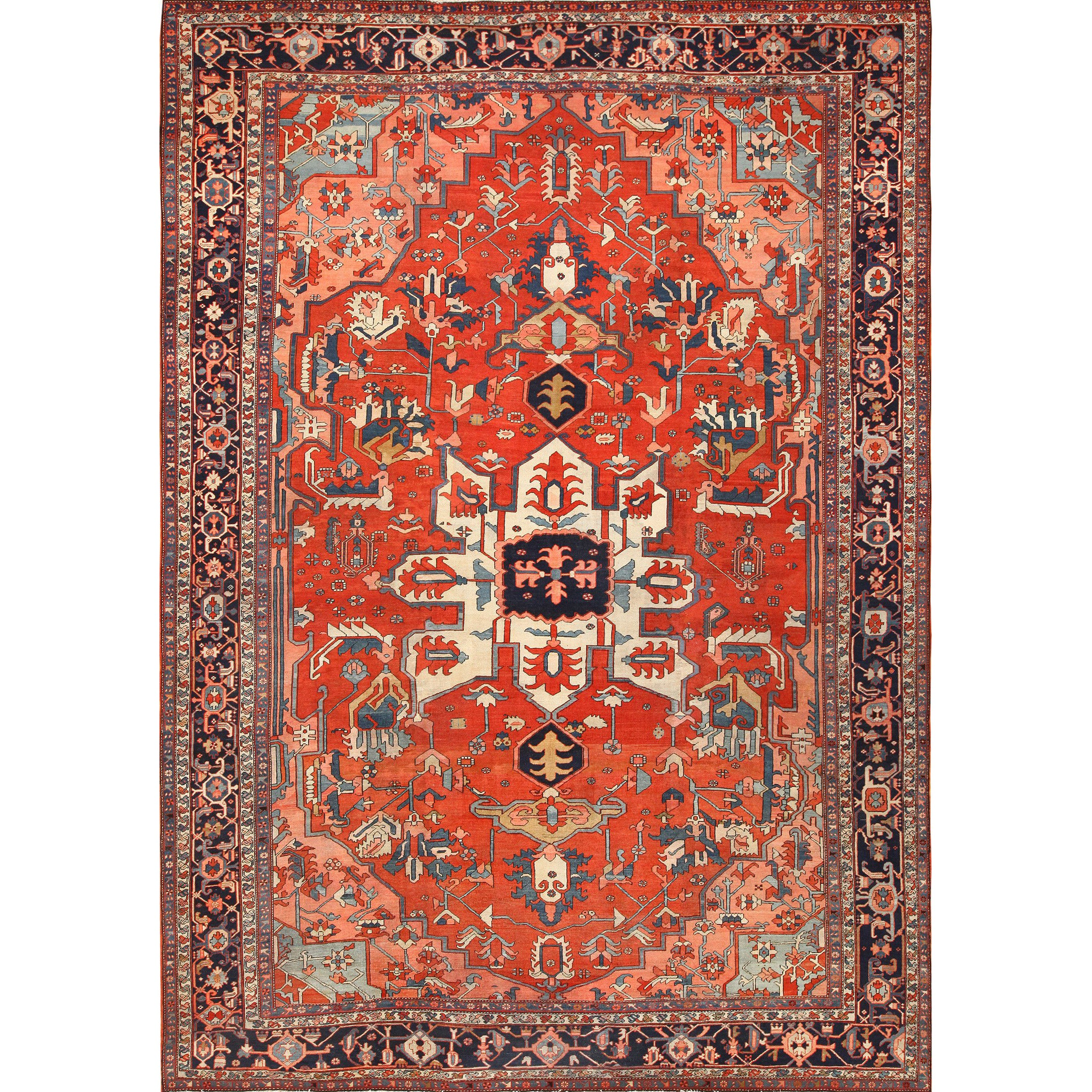 Large Antique Serapi Persian Rug For Sale At 1stdibs