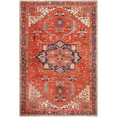 Large Antique Serapi Persian Rug