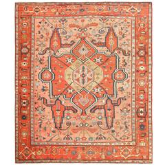 Room Size Antique Serapi Persian Rug