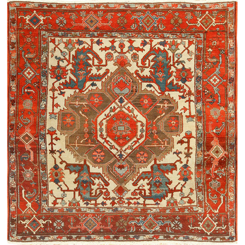 View This Beautiful Small Square Size Vintage Azari Tribal Turkish Rug 49649 Which Is Available For At Nazmiyal S Extensive Collection Of