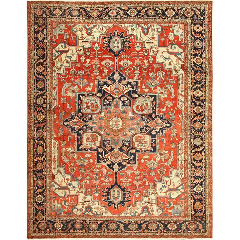 Antique Serapi Persian Rug