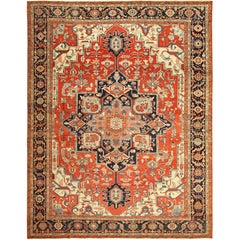 Antique Serapi Persian Rug