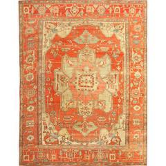 Beautiful Antique Serapi Persian Rug