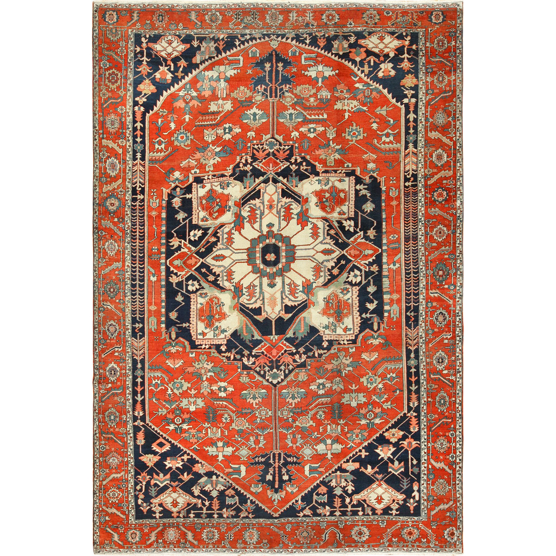 Antique Red Serapi Persian Rug For Sale At 1stdibs