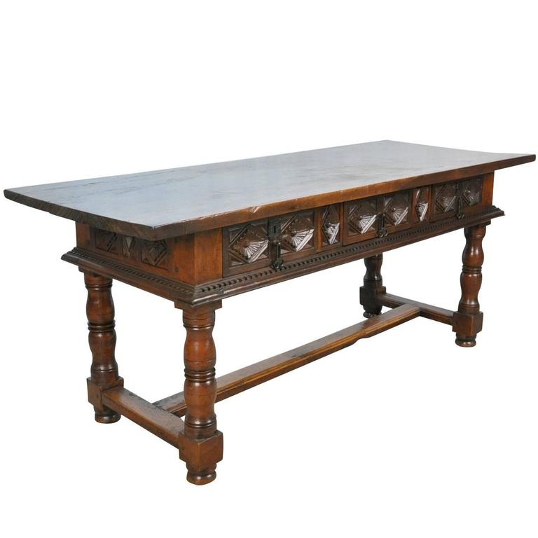 Spanish 18th Century Walnut Reflectoire Table or Desk