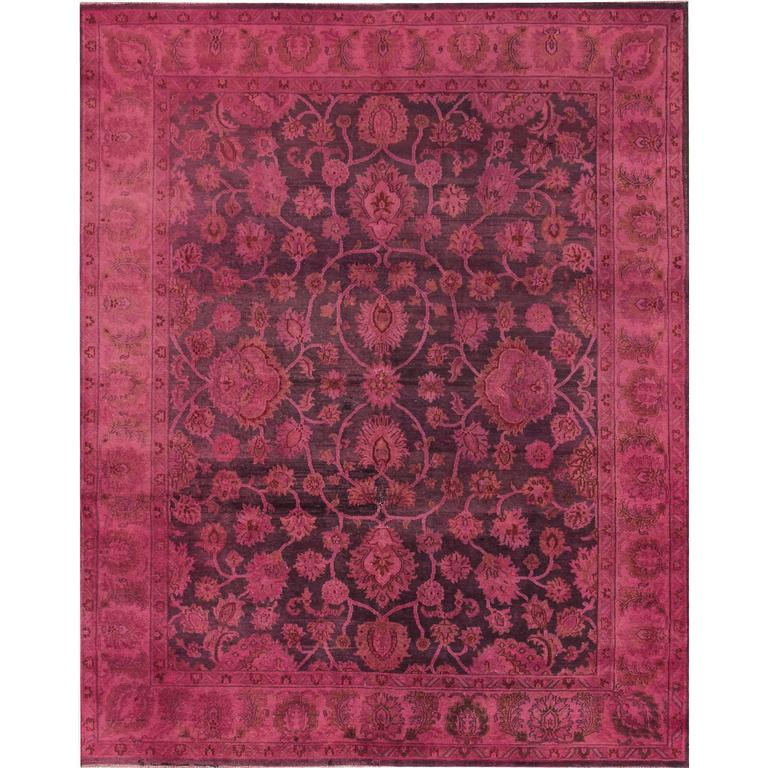 Wool Rugs Made In India: Vintage Indian Wool Overdyed Rug For Sale At 1stdibs