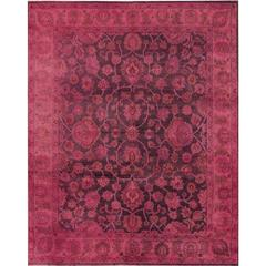Vintage Indian Wool Overdyed Rug