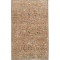 Vintage Distressed Persian Kerman Rug