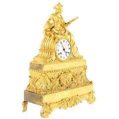 French Gilt Clock from Paris, circa 1820