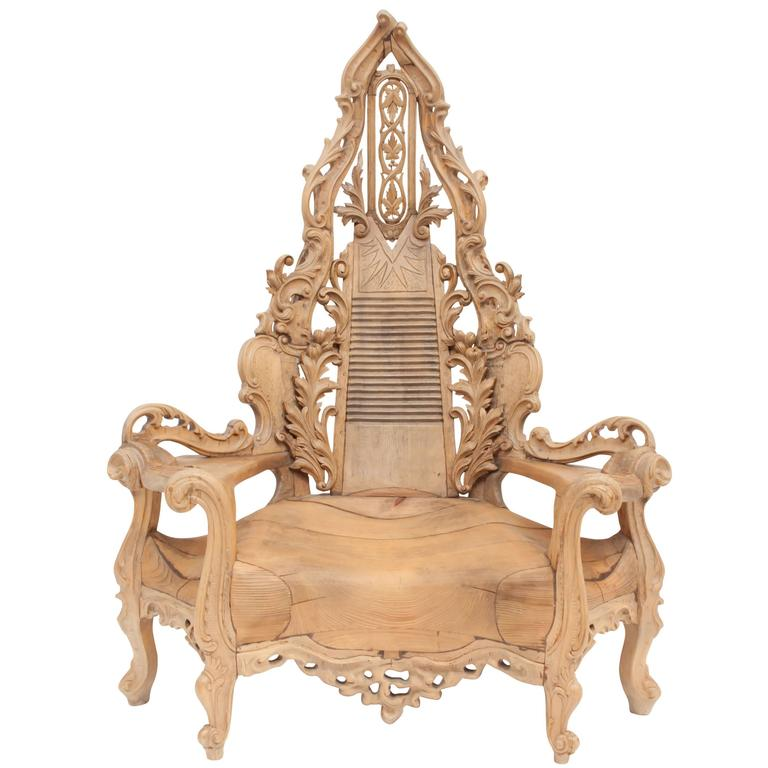 Brilliant French Ornamental Wooden Throne Chair Beutiful Home Inspiration Ommitmahrainfo