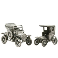 1970s  Italian Sterling Silver Car Models / Table Ornaments