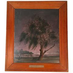 Hayward Veal Australian Nocturne Painting