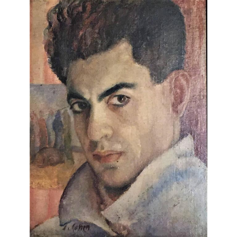J. Cohen, Portrait of a Man, Oil Painting, circa 1950s For Sale